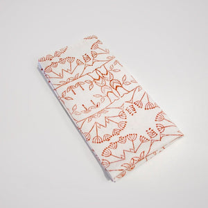 Enchanted Forest Organic Cotton Napkin Set in Ochre