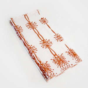 Wattle Organic Cotton Napkin Set in Ochre