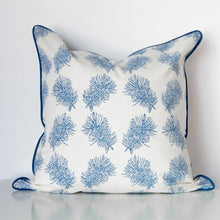 Bottlebrush Organic Cotton Cushion in Blue