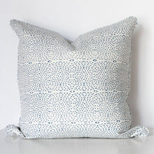 Diamond Dotty Organic Cotton Cushion in Blue