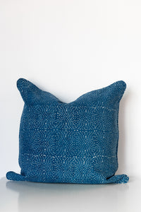 Diamond Dotty Organic Cotton Cushion in Indigo