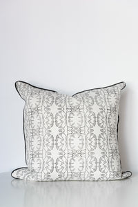Enchanted Forest Organic Cotton Cushion in Black