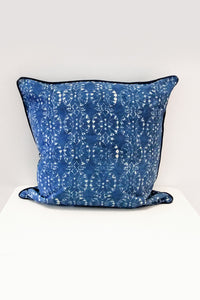 Wildflower Organic Cotton Cushion in Indigo