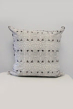 Kantha Organic Cotton Cushion in Black