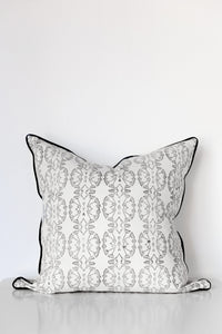 Wildflower Organic Cotton Cushion in Black