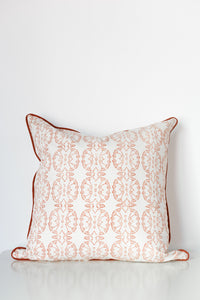 Wildflower Organic Cotton Cushion in Ochre