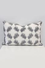 Bottlebrush Rectangle Organic Cotton Cushion in Black