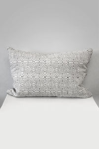 Diamond Dotty Rectangle Organic Cotton Cushion in Black