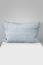Diamond Dotty Rectangle Organic Cotton Cushion in Blue