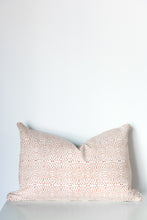 Diamond Dotty Rectangle Organic Cotton Cushion in Ochre