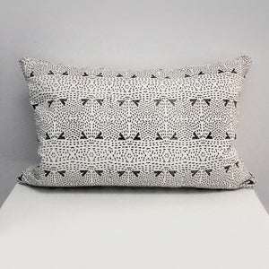 Kantha Rectangle Organic Cotton Cushion in Black