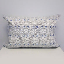 Kantha Rectangle Organic Cotton Cushion in Blue
