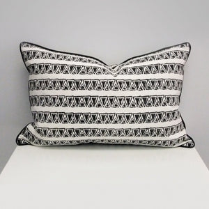 Mykonos Rectangle Organic Cotton Cushion in Black