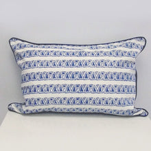 Mykonos Rectangle Organic Cotton Cushion in Blue