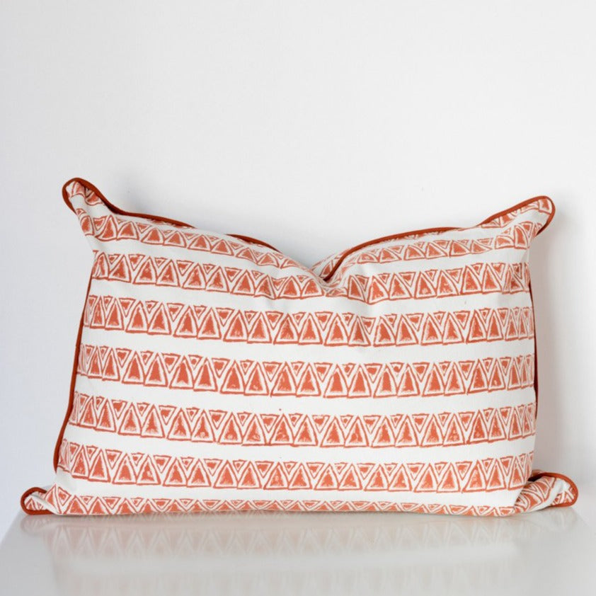 Mykonos Rectangle Organic Cotton Cushion in Ochre