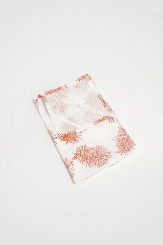 Bottlebrush Organic Cotton Tea Towel in Ochre