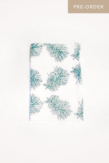 Bottlebrush Organic Cotton Tea Towel in Teal