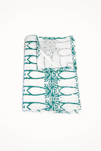 Deco Organic Cotton Tea Towel in Teal