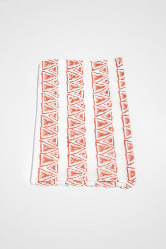 Mykonos Organic Cotton Tea Towel in Ochre