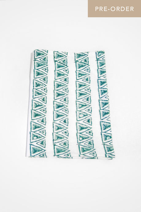Mykonos Organic Cotton Tea Towel in Teal