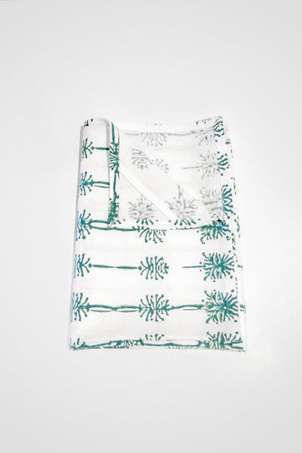 Wattle Organic Cotton Tea Towel in Teal