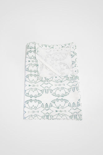 Wildflower Organic Cotton Tea Towel in Teal