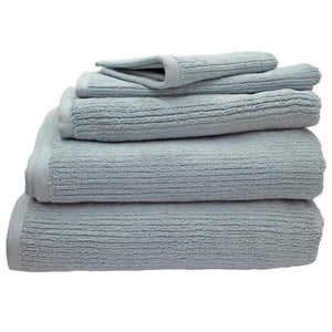 Whitehaven ribbed organic cotton bath towels | ecodownunder