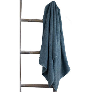 Whitehaven Organic Cotton Bath Sheet in Byron Blue 170cm x 85cm | Ecodownunder