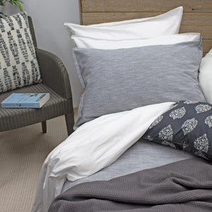 Charcoal Vintage Cotton Quilt Cover, Single, Double, Queen, King Bed | Ecodownunder