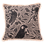 Black Cockatoo Cushion Cover 45x45