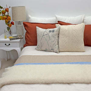 Alpaca Throw, Cream in Colour 150cm x 180cm | Ecodownunder