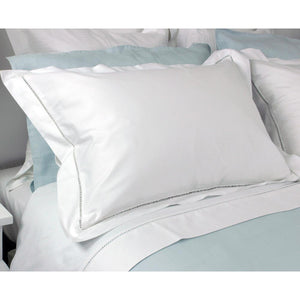 Hamilton Collection Ladder Stitch Tailored Pillowcase White