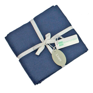 Midnight Blue Linen pillowcases in set of 2 for $39 | Ecodownunder