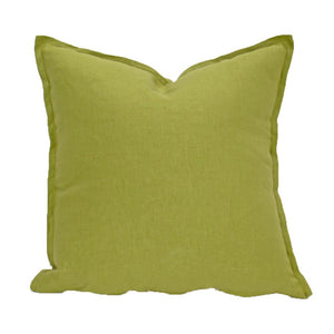 Moss Green Linen Cushion Cover 40x40 | Ecodownunder