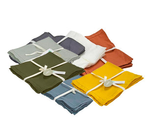 Pure Linen Table Napkins Set of 4
