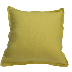 Linen cushion cover 50x50cm in pollen (yellow/mustard)l | Ecodowunder