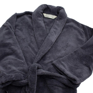 Luxury Organic Cotton, Super Plush Bath Robe in Graphite | Ecodownunder