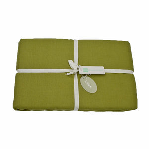 Moss Green Linen Fitted Sheets | Ecodownunder
