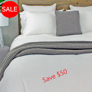 Quilt Covers on Sale, Save $50 on a set, White or Grey. Made from Eco Cotton | Ecodownunder