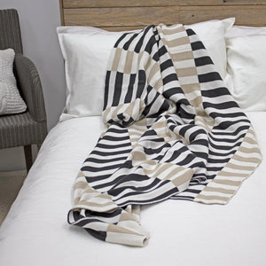 Organic Cotton Knitted Throws | Ecodownunder