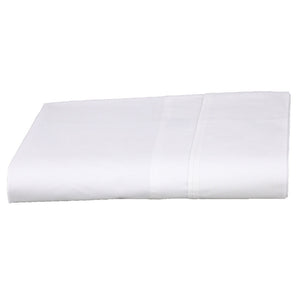 Eco Cotton Flat Sheet in White, no harsh chemicals or toxic dyes in our products