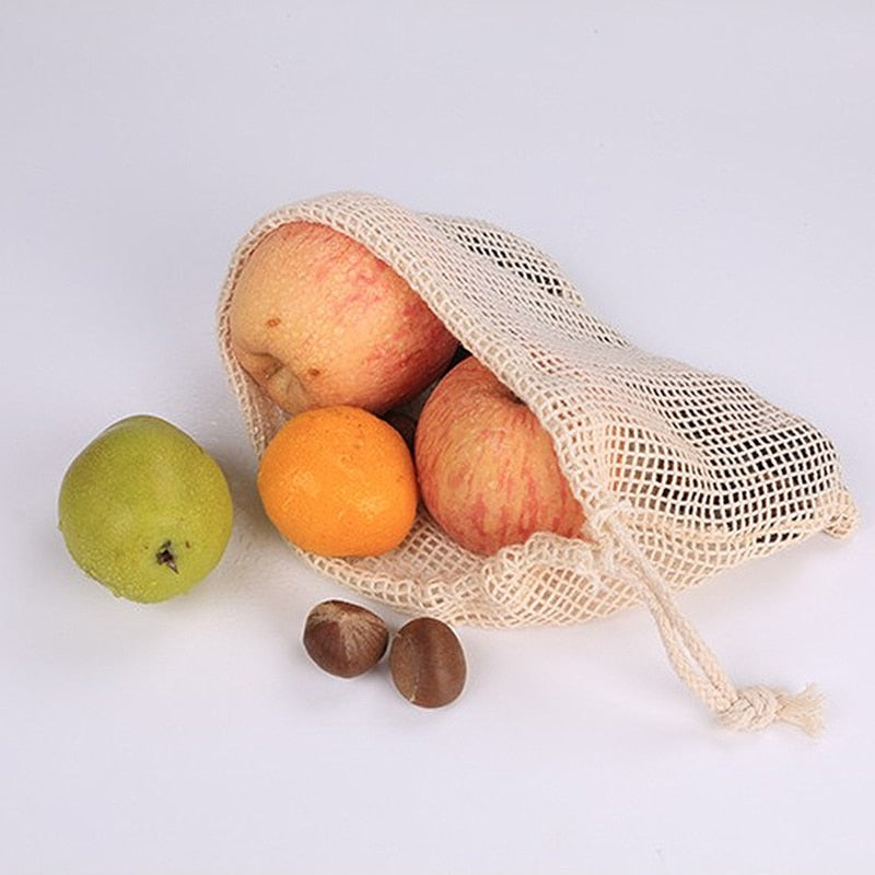 Reusable Natural Mesh Bag