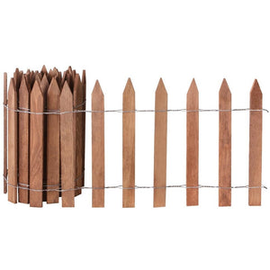 Brown Wooden Garden Picket Fence 12 ft x 16 in RC24B