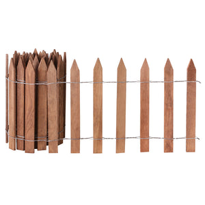 Brown Wooden Garden Picket Fence 12 ft x 16 in (4 Pack) RC24B-4C