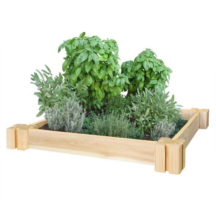 Original Cedar Herb Garden Bed 2 ft x 2 ft x 3.5 in RC2HG2