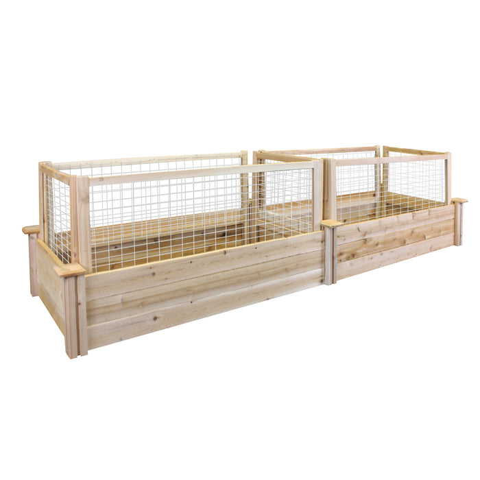 CritterGuard Cedar Fence Set for 2 ft x 8 ft Cedar Raised Bed RCCG2X8