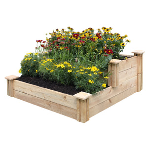 Cedar Flower Garden Stair Tiered 30 in x 30 in RC3015T2