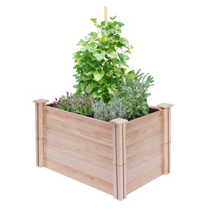 Cedar Raised Garden Bed 4 ft X 2 ft X 21 in RC42C22