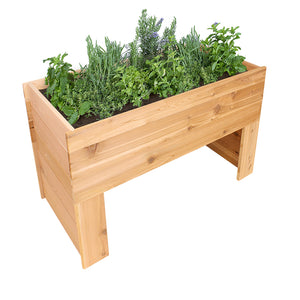 Cedar Elevated Garden Bed 47 in x 24 in x 30 in RCEVP1