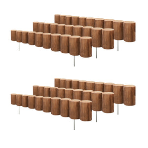 Wooden Full Log Lawn Edging 30 in x 5 in (6 Pack) RC43M-6C